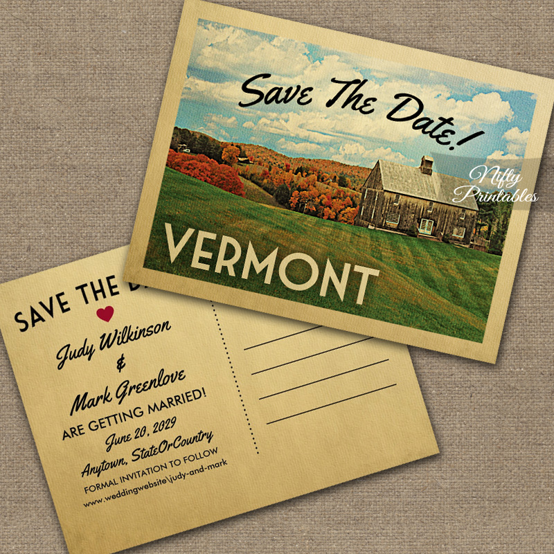 Vermont Save The Date PRINTED