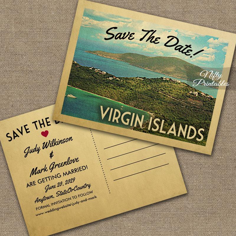 Virgin Islands Save The Date PRINTED