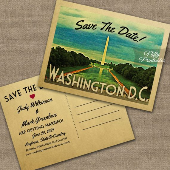 Washington Save The Date PRINTED