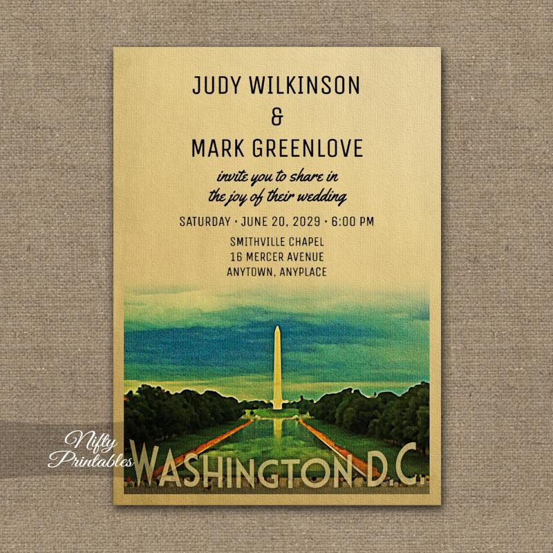 Washington Wedding Invitation PRINTED