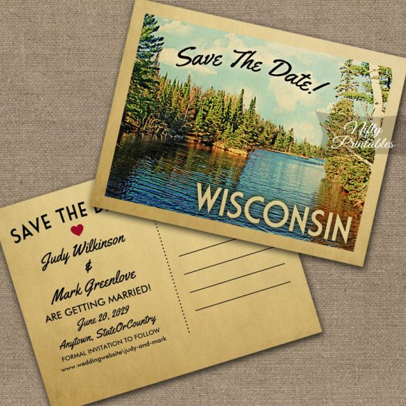 Wisconsin Save The Date PRINTED