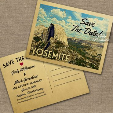 Yosemite Save The Date PRINTED