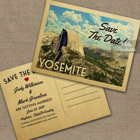 Yosemite Save The Date PRINTED