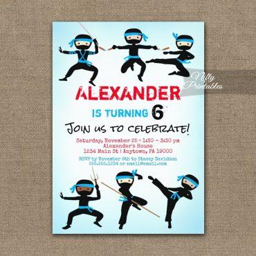Ninja Birthday Invitation PRINTED