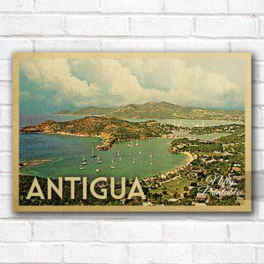 Antigua Vintage Travel Poster