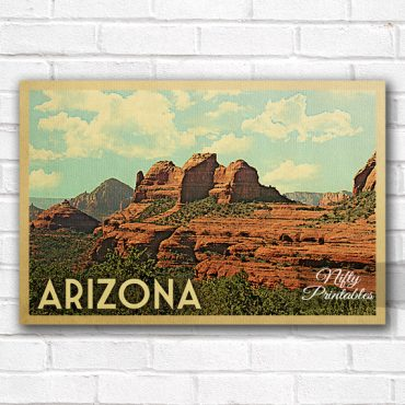 Arizona Vintage Travel Poster