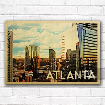 Atlanta Vintage Travel Poster