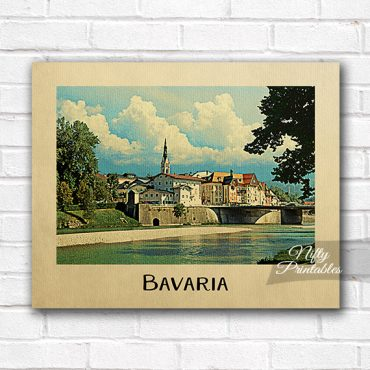 Bavaria Vintage Travel Poster