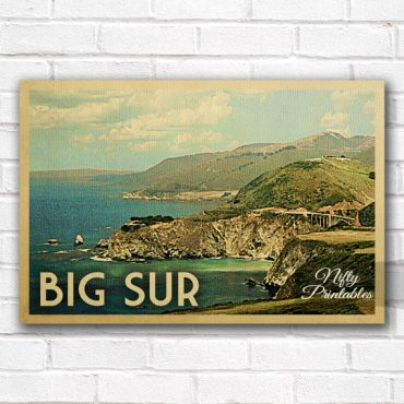 Big Sur Vintage Travel Poster
