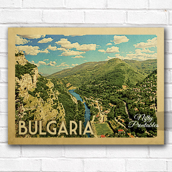 Bulgaria Vintage Travel Poster