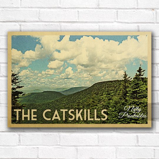 Catskills Vintage Travel Poster