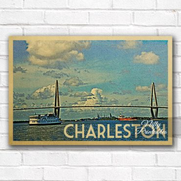 Charleston Vintage Travel Poster