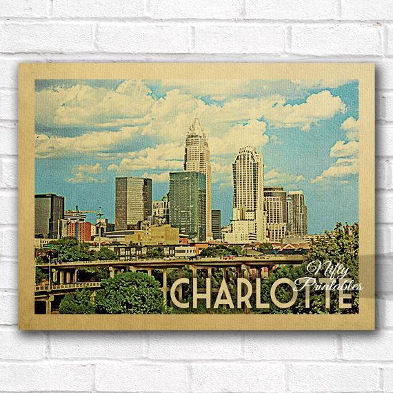 Charlotte Vintage Travel Poster