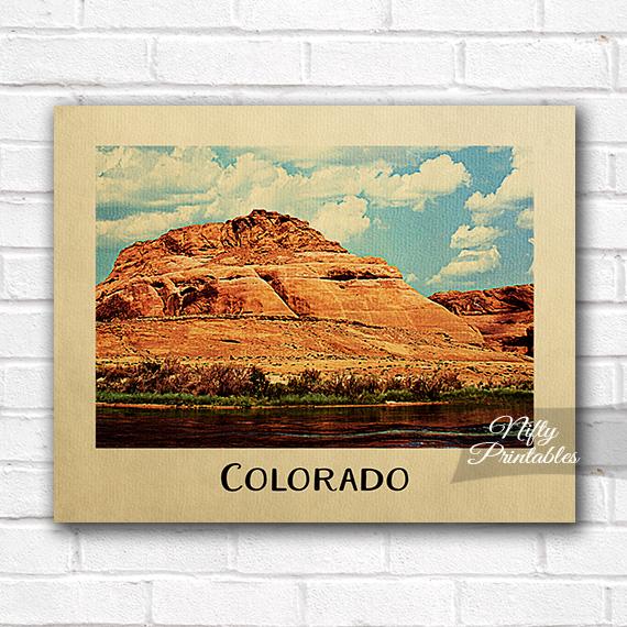Colorado River Vintage Travel Poster