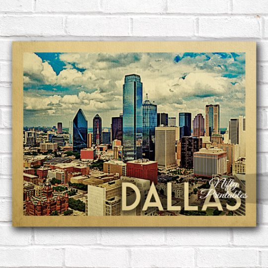 Dallas Vintage Travel Poster