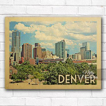 Denver Vintage Travel Poster