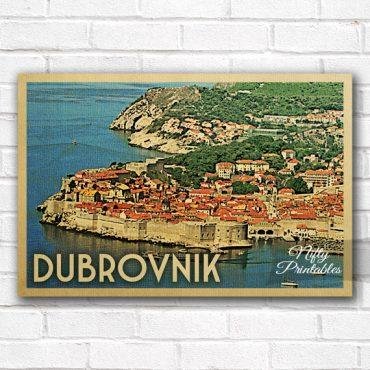 Dubrovnik Vintage Travel Poster