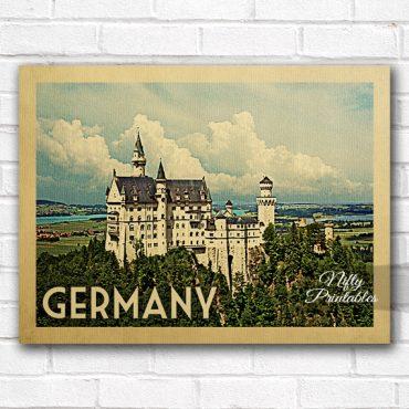 Germany Vintage Travel Poster