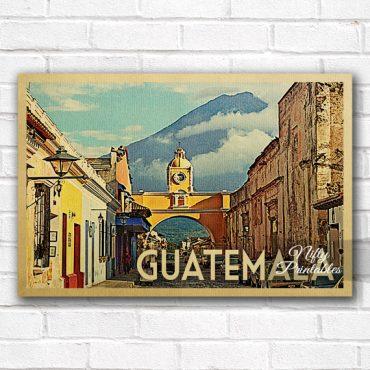 Guatemala Vintage Travel Poster