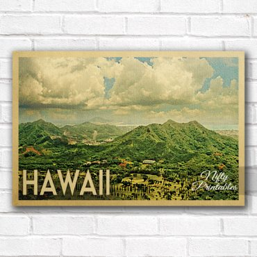 Hawaii Vintage Travel Poster