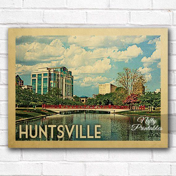 Huntsville Vintage Travel Poster