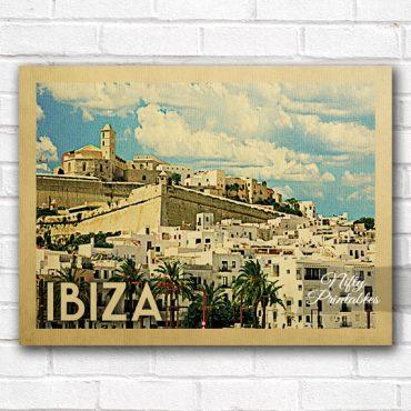 Ibiza Vintage Travel Poster