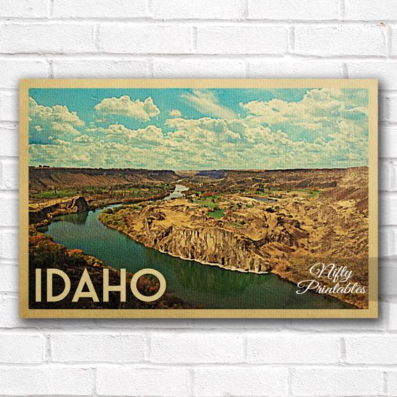 Idaho Vintage Travel Poster
