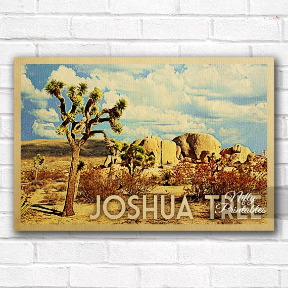 Joshua Tree Vintage Travel Poster