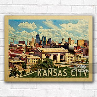 Kansas City Vintage Travel Poster