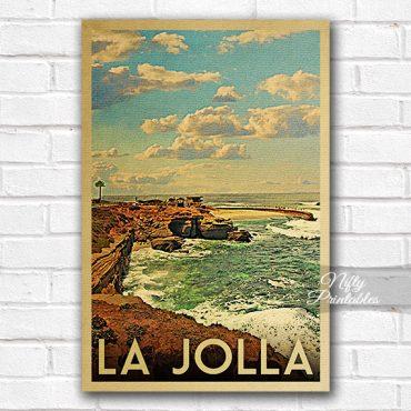 La Jolla Vintage Travel Poster