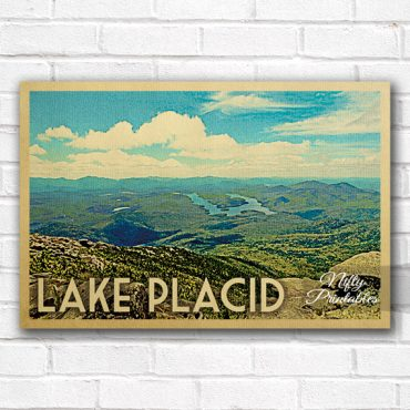 Lake Placid Vintage Travel Poster