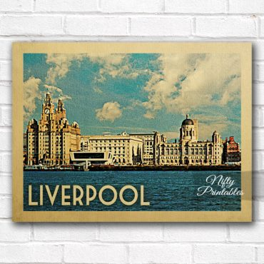 Liverpool Vintage Travel Poster