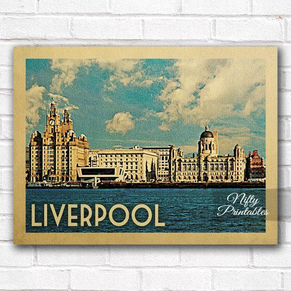 Liverpool Vintage Travel Poster