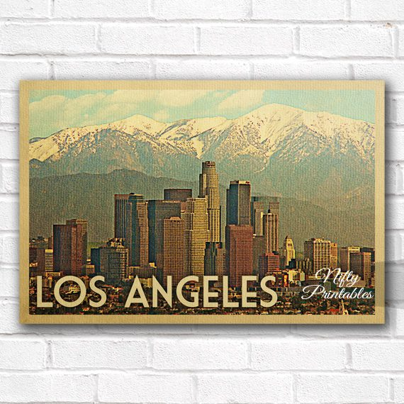 Los Angeles Vintage Travel Poster