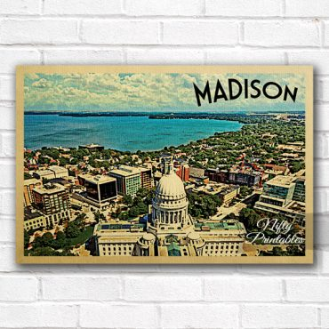 Madison Vintage Travel Poster