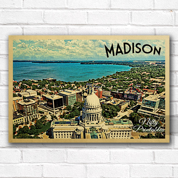 Madison Vintage Travel Poster