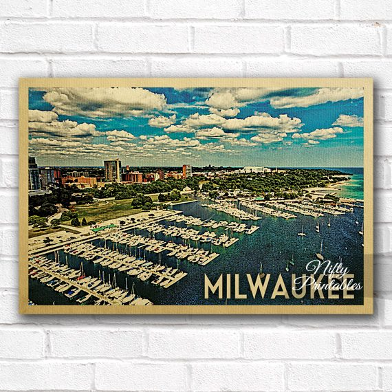 Milwaukee Vintage Travel Poster