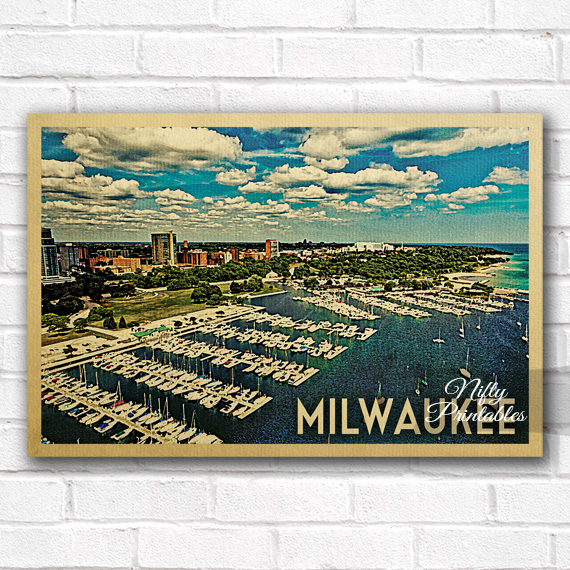 Milwaukee Vintage Travel Poster