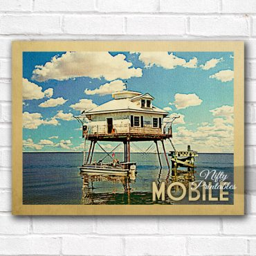 Mobile Vintage Travel Poster
