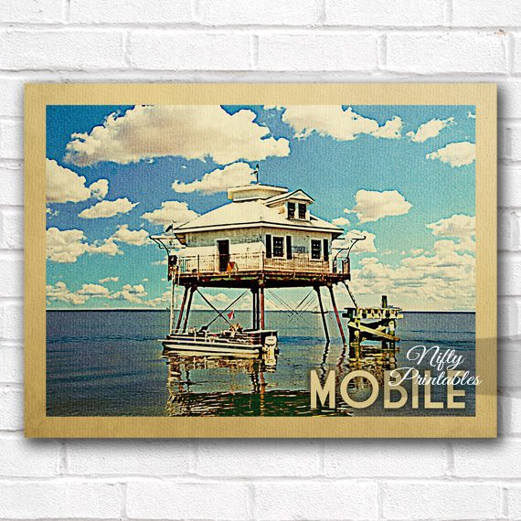 Mobile Vintage Travel Poster