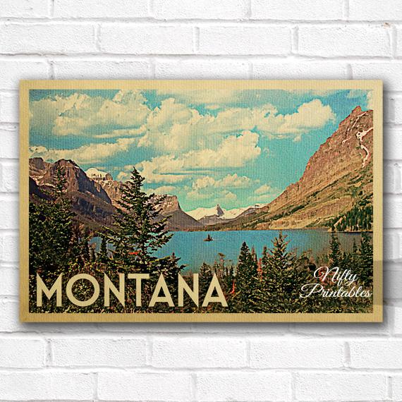 Montana Vintage Travel Poster