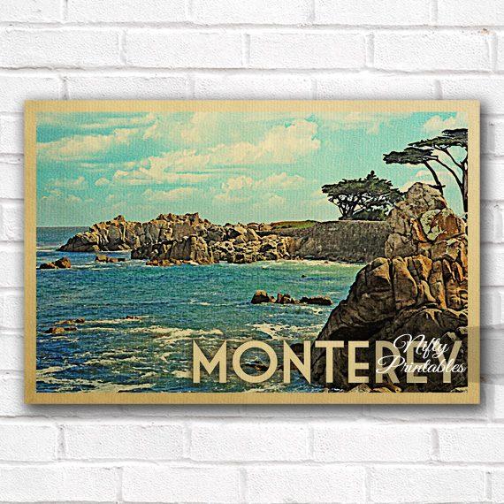 Monterey Vintage Travel Poster