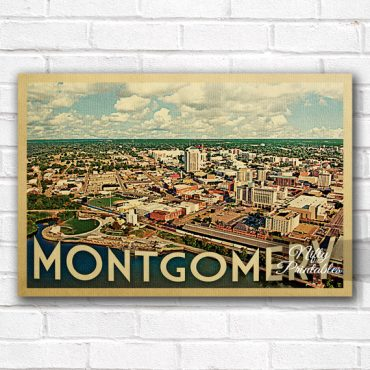 Montgomery Vintage Travel Poster