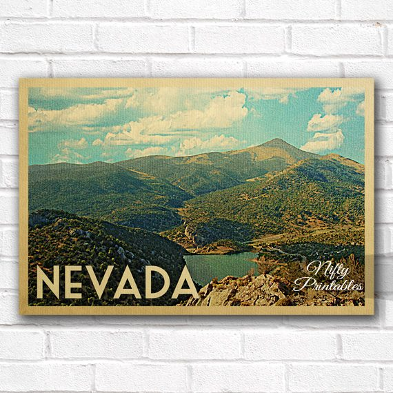 Nevada Vintage Travel Poster