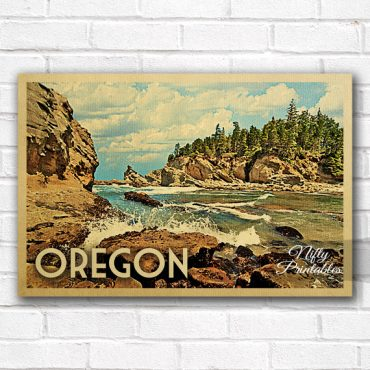 Oregon Vintage Travel Poster