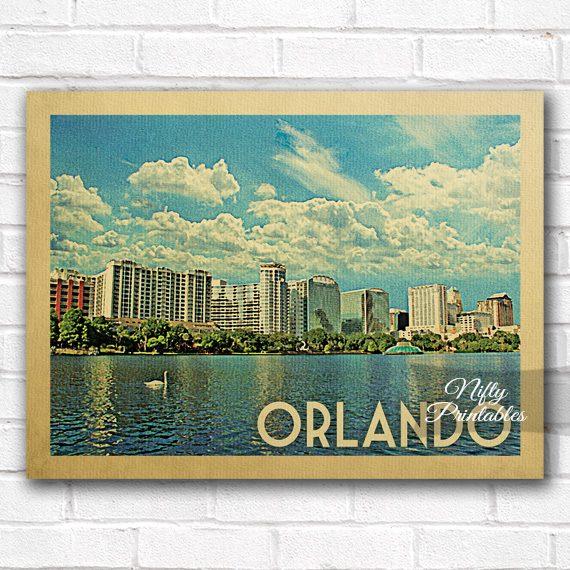 Orlando Vintage Travel Poster