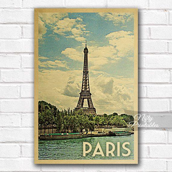 Paris Vintage Travel Poster