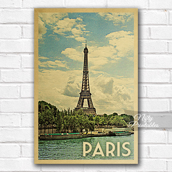 paris vintage travel poster nifty printables. Black Bedroom Furniture Sets. Home Design Ideas