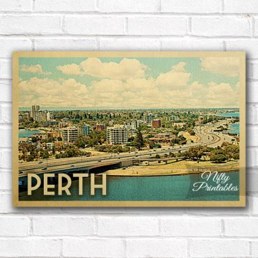 Perth Vintage Travel Poster