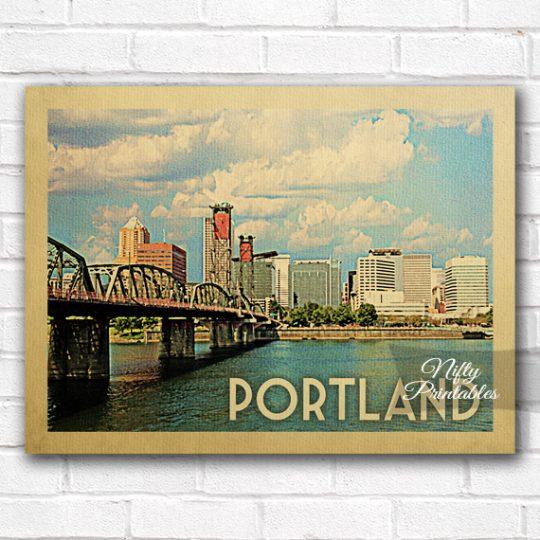 Portland Vintage Travel Poster